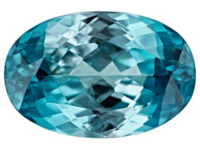 Blue Zircon Oval 5.00ct