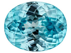Blue Zircon 4.22ct 10.5x8.5mm Oval