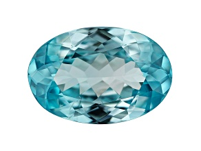 Blue Zircon 4.45ct 12.4x8.4mm Oval