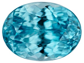 Blue Zircon Oval 2.65ct