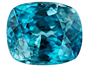 Blue Zircon 4.75ct 10x8mm Included Rec Cush