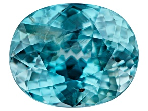 Blue Zircon 4.35ct min wt. Varies mm Included Oval
