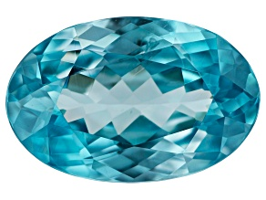 Blue Zircon 3.50ct min wt. Varies mm Included Oval