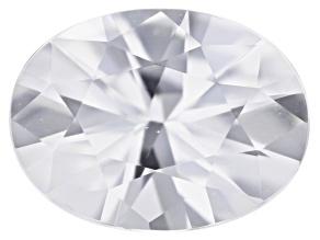 2.29ct White Zircon 9x7mm Oval