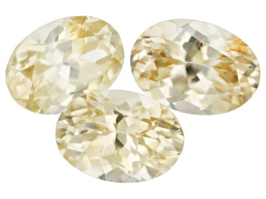 Yellow Zircon Thermochromic 7x5mm Oval Set of 3 3.72ct