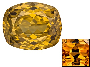 Yellow Zircon Thermochromic 12.73x10.42mm Rectangular Cushion 9.61ct