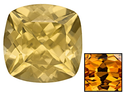 Yellow Zircon Thermochromic 8mm Square Cushion 3.00ct