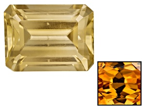 Yellow Zircon Thermochromic 8x6mm Emerald Cut 2.25ct