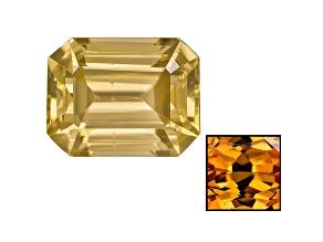 Yellow Zircon Thermochromic 9x7mm Emerald cut 3.00ct