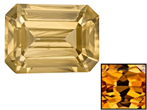 Yellow Zircon Thermochromic 8x6mm Emerald Cut 2.00ct