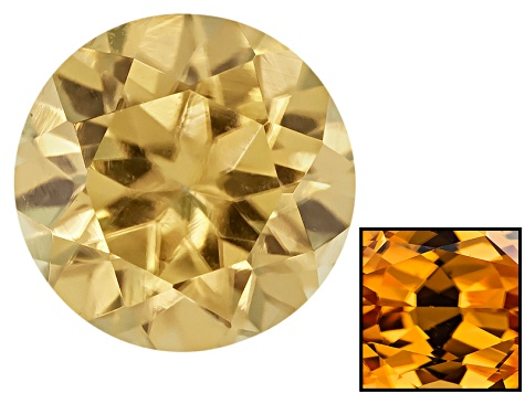 Yellow Zircon Thermochromic 5mm Round Brilliant .65ct