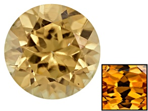 Yellow Zircon Thermochromic 5.5mm Round Brilliant .85ct