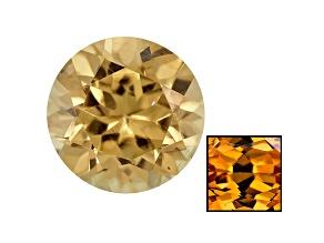 Yellow Zircon Thermochromic 5.5mm Round Brilliant .85ct