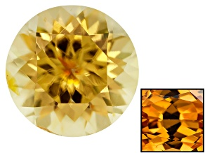 Yellow Zircon Thermochromic 7.5mm Round Brilliant 1.90ct