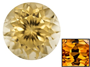 Yellow Zircon Thermochromic 6mm Round 1.15ct