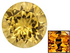 Yellow Zircon Thermochromic 7mm Round 1.85ct