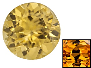 Yellow Zircon Thermochromic 7mm Round 1.75ct
