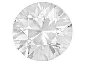 White Zircon 7mm Round Diamond Cut 1.55ct
