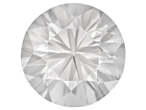 White Zircon 7.5mm Round Diamond Cut 2.00ct