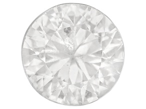 White Zircon 7.5mm Round Diamond Cut 2.25ct