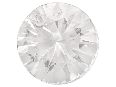 White Zircon 7.5mm Round Diamond Cut 1.75ct