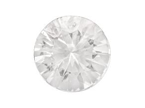 White Zircon 7.5mm Round Diamond Cut 1.75ct