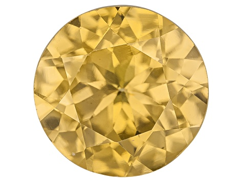 Yellow Zircon Thermochromic 8mm Round Brilliant 2.25ct