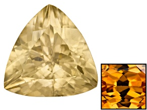Yellow Zircon Thermochromic 8mm Trillion 2.25ct
