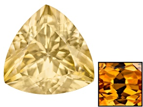 Yellow Zircon Thermochromic 9mm Trillion 3.25ct