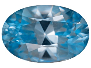 Blue Zircon 6x4mm Oval Mixed Step .75ct