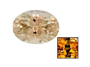 Yellow Zircon Thermochromic 8x6mm Oval 1.65ct