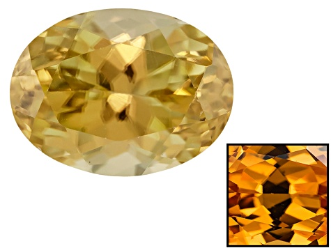 Yellow Zircon Thermochromic 8.5x6.5mm Oval 2.25ct
