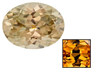 Yellow Zircon Thermochromic Oval 2.00ct