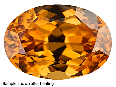 Yellow Zircon Thermochromic Oval 1.75ct