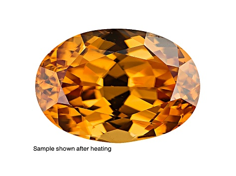 Yellow Zircon Thermochromic 15.37x10.75mm Oval 12.45ct