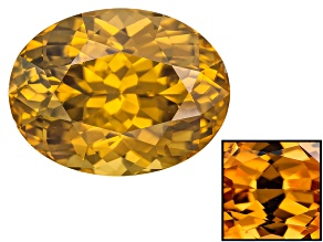 Yellow Zircon Thermochromic 13.74x10.44mm Oval 10.71ct