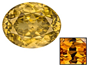 Yellow Zircon Thermochromic mm Varies Oval 8.10ct