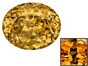 Yellow Zircon Thermochromic 12.06x9.71mm Oval 6.64ct