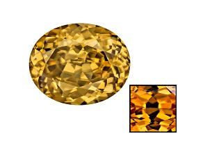 Yellow Zircon Thermochromic 12.06x9.71mm Oval 6.64ct