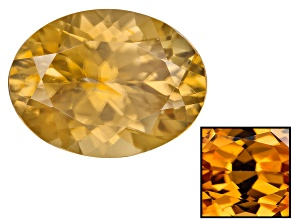 Yellow Zircon Thermochromic 12x9mm Oval 5.78ct