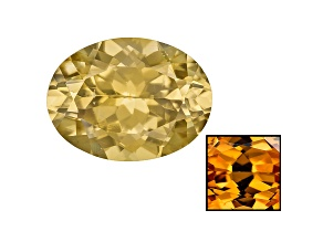 Yellow Zircon Thermochromic 11.8x8.85mm Oval 5.63ct