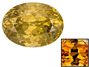Yellow Zircon Thermochromic mm Varies Oval 9.40ct