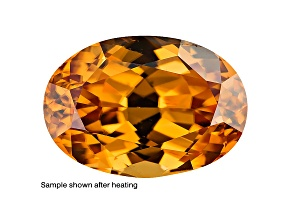 Yellow Zircon Thermochromic 8x6mm Oval 1.75ct