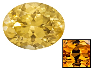 Yellow Zircon Thermochromic 9x7mm Oval 2.50ct