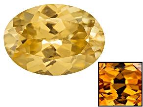 Yellow Zircon Thermochromic 7x5mm Oval 1.15ct