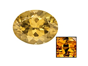 Yellow Zircon Thermochromic 10x8mm Oval 3.50ct