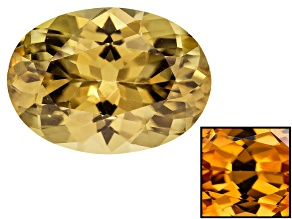Yellow Zircon Thermochromic Oval 5.00ct