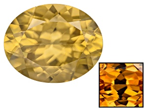 Yellow Zircon Thermochromic 10x8mm Oval 3.25ct