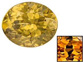 Yellow Zircon Thermochromic 11x9mm Oval 4.60ct