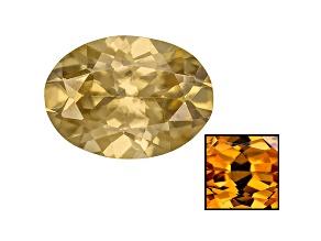 Yellow Zircon Thermochromic 7x5mm Oval .95ct